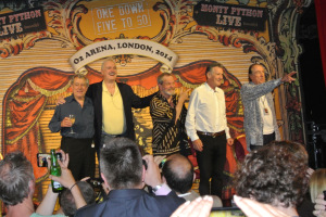 "Members of Monty Python at the ""Meet and Greet"" after the O2 show Monty Python Live (Mostly) on July 5th. (Picture by Loretto Leary)"